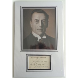 Joseph Chamberlain Liberal politics signed authentic autograph photo display COA