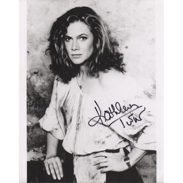 Kathleen Turner signed authentic genuine autograph photo COA UACC AFTAL