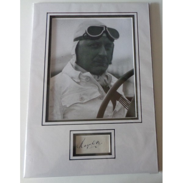 Kaye Don speed records signed genuine signature autograph display