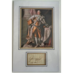 King George III signed authentic signature photo display COA RACC