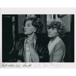 Liz Smith Dora Bryan authentic signed autograph signature photo COA