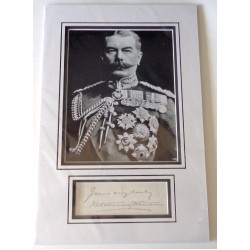 Lord Kitchener Kharthoum signed authentic genuine signature autograph display