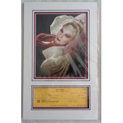 Mae West genuine signed authentic autograph cheque photo display COA