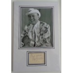 Max Miller comedy Cheeky Chappie signed authentic genuine signature autograph display