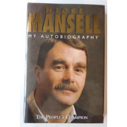 Nigel Mansell F1 Williams genuine signed authentic signature book COA