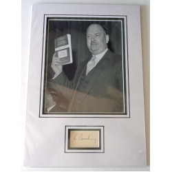 Richard Beeching report signed authentic genuine signature autograph display COA