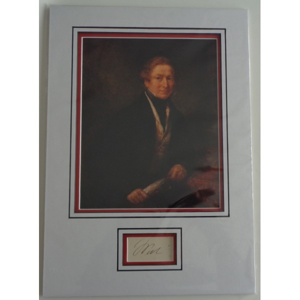 Robert Peel Police PM signed authentic autograph photo display COA AFTAL