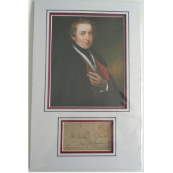 Robert Peel Police PM signed authentic autograph photo display COA RACC