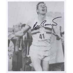Roger Bannister 4 minute mile authentic genuine signed image COA UACC