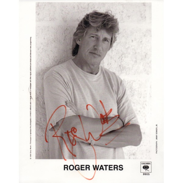 Roger Waters Pink Floyd signed authentic genuine signature photo UACC AFTAL