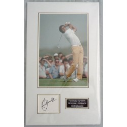 Seve Ballesteros golf signed authentic genuine display COA UACC AFTAL