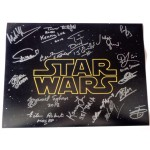 Star Wars multi signed authentic signature autograph photo 2 COA RACC