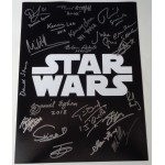 Star Wars multi signed authentic signature autograph photo COA RACC