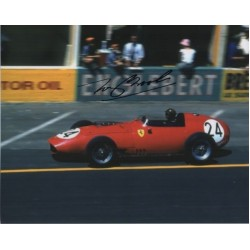 Tony Brooks Ferrari F1 genuine authentic signed photo COA RACC