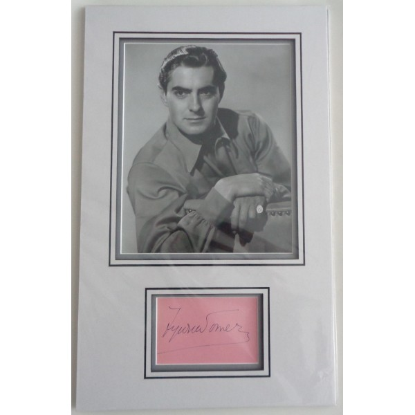 Tyrone Power authentic signed autograph page display COA UACC