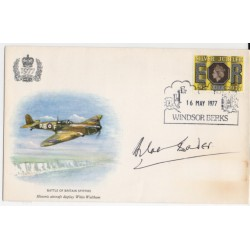 WW2 Douglas Bader air ace genuine authentic signed autograph FDC COA
