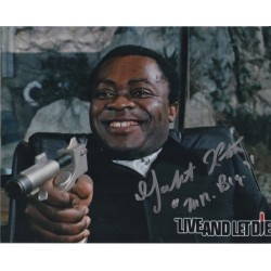 Yaphet Kotto James Bond signed authentic signature autograph photo COA UACC