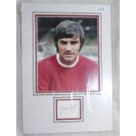 George Best Man United genuine signature signed autograph display photo