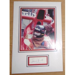 James Hunt F1 McLaren genuine signature signed autograph display photo