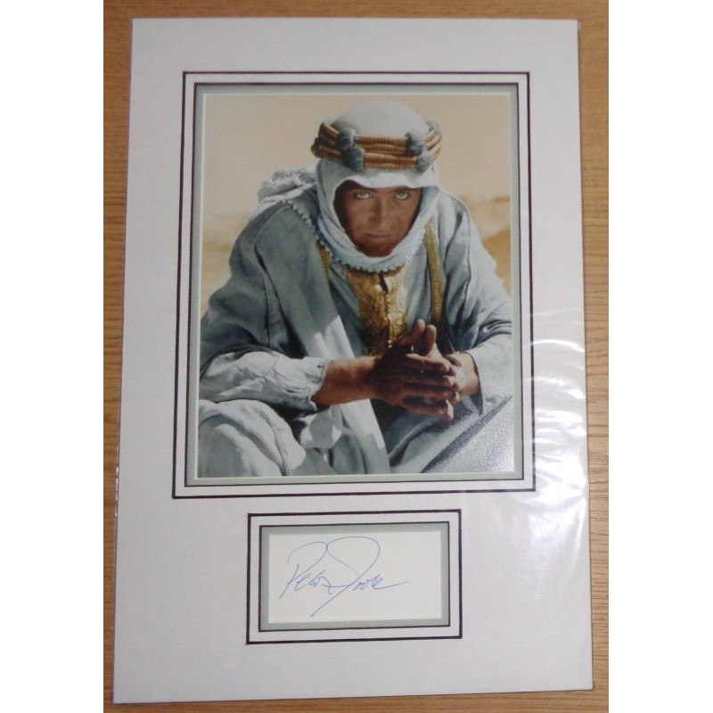 Peter O/'Toole from Lawrence of Arabia signed original charcoal drawing of photograph