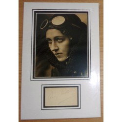 Amy Johnson Mollison genuine signature signed autograph display photo