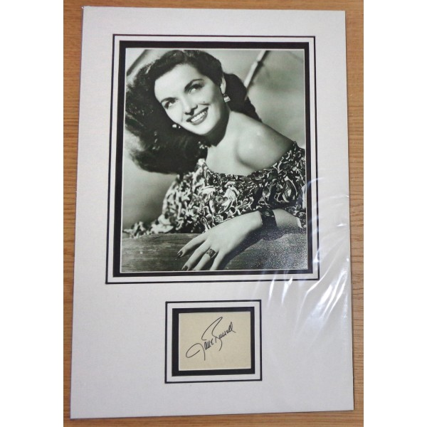 Jane Russell genuine authentic signed autograph display
