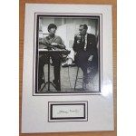George Martin Beatles signed authentic genuine signature autograph display