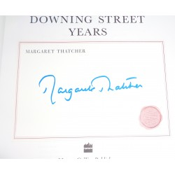 Margaret Thatcher PM authentic genuine signed autograph book COA