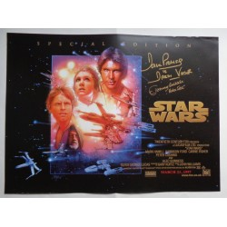 Dave Prowse Jeremy Bulloch Star Wars genuine authentic autograph signed poster
