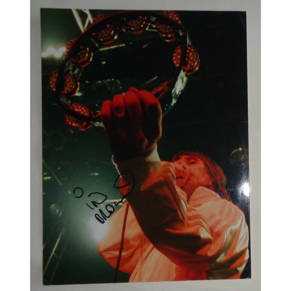 Ian Brown Stone Roses large authentic signed autograph photo COA AFTAL