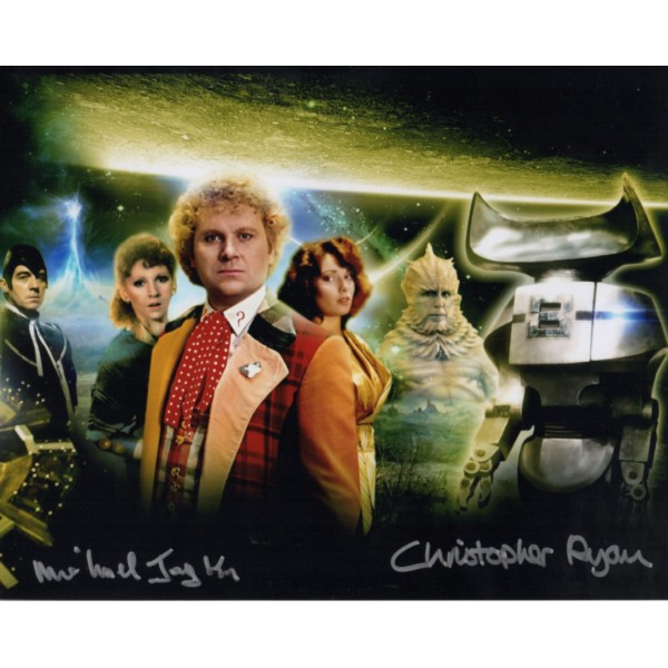 Michael Jayston Chris Ryan Doctor Who signed genuine autograph photo