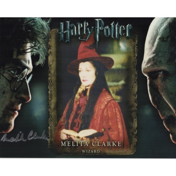 Melita Clarke Harry Potter authentic genuine signed autograph photo