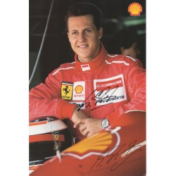 Michael Schumacher  Mercedes Ferrari F1 genuine authentic signed photo COA RACC