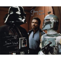 Dave Prowse Darth Vader Jeremy Bulloch signed genuine signature photo