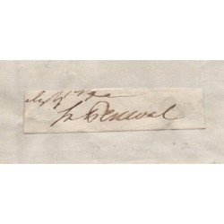 Spencer Perceval PM politics rare signed authentic genuine signature piece