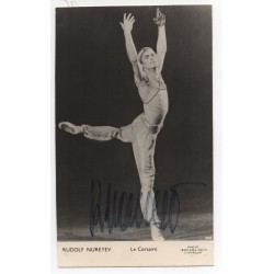 Rudolf Nureyev ballet genuine authentic autograph signed photo COA RACC