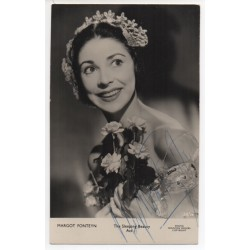Margot Fonteyn ballet genuine authentic autograph signed photo COA RACC