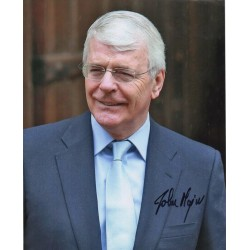 Prime Minister John Major politics signed original genuine autograph authentic