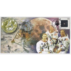 Edgar Mitchell Apollo 14 genuine authentic signed autograph FDC 3 COA