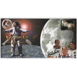 Apollo 15 Dave Scott Al Worden signed authentic genuine signature FDC