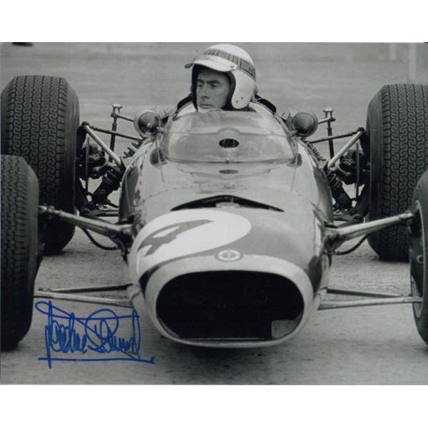 Jackie Stewart F1 BRM signed genuine signature authentic photo 12