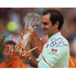 Roger Federer Wimbledon Tennis genuine signed authentic signature image COA AFTAL