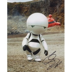 Warwick Davis Marvin Hitchhikers guide authentic autograph signed photo