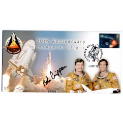 Shuttle STS01 Columbia Bob Crippen autograph authentic genuine signed cover COA