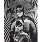 Adam West Yvonne Craig Batman signed original genuine autograph authentic photo
