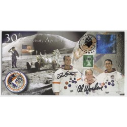 Dave Scott Al Worden Apollo 15 genuine signed authentic signature FDC COA