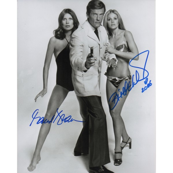 Maud Adams Brit Ekland James Bond authentic original signed photo AFTAL