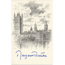 Margaret Thatcher Politics PM genuine signed authentic autograph bookplate