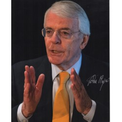 Prime Minister John Major PM signed original genuine autograph authentic