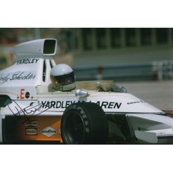 Jody Scheckter McLaren F1 genuine signed authentic autograph photo